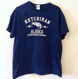 Ketchikan Salmon T-Shirt NWOT